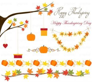 Thanksgiving Clipart border banners