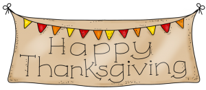 Thanksgiving clipart banner graphic black and white