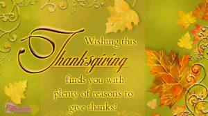 Thanksgiving Greetings Sayings